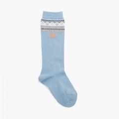 Porta calzini alti Azzurro
