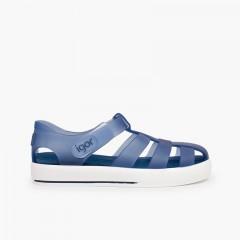 Sandali ragnetti con velcro tipo scarpe da tennis Blu