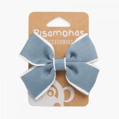 Clip ad anello sul bordo bianco Blu reale
