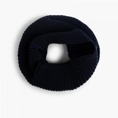 Sciarpa circolare di maglia Blu