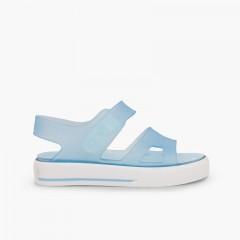Sandali gomma tipo sneakers Malibú Celeste
