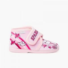 Stivali da casa con chiusura slip-on Sparkly  Rosa