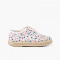 Sneakers Farfalle Linguetta Elastica senza Lacci Multicolor