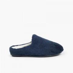 Pantofole casa in morbido pelo  Blu