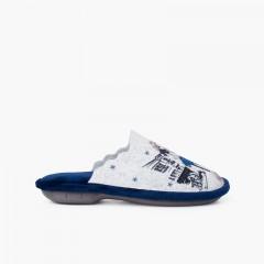 zoccoli in feltro frasi Blu