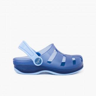 Zoccoli Surfi in gomma per bambini Blu