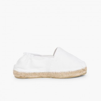 Espadrillas bambini con elastico Bianco