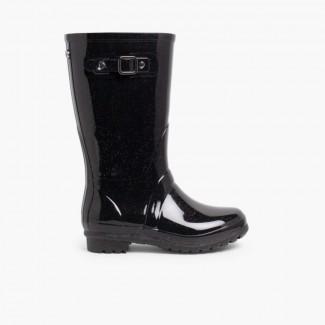 Stivali di gomma glitter Nero