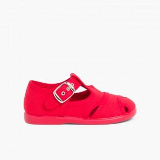 Sandali di tela Rosso