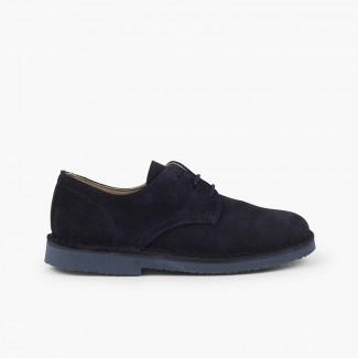 Scarpe blucher scamosciato liscio scarpe eleganti bambino Blu