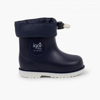 Stivali di gomma bassi regolabili bambini piccoli Blu