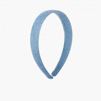 Fascia larga in tela di sacco Blu reale