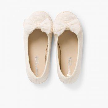 410cea1cee Ballerine di tela con laccetto di tulle | Pisamonas