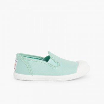 Sneakers Tela senza Lacci con Elastici Laterali