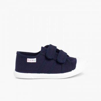 Scarpe Bambini tela Velcro Zapatillas Niños Lona Velcro Azul marino ... 07453f3cdb8