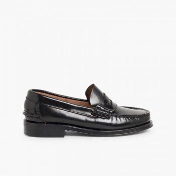 82e37be0b7be0 Scarpe College Bambino Mocassino Pelle Zapatos castellanos Mocasines de  piel para Niño Negro ...