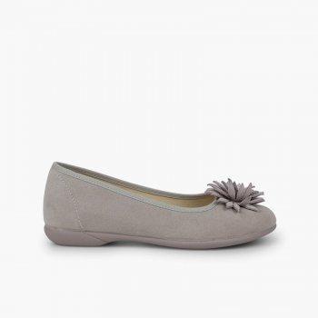 nuovo stile c4a8c 72af2 Ballerine con fiore   Scarpe eleganti bambina e donna