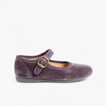 Scarpe bambina Velluto Fibbia eba5f171837