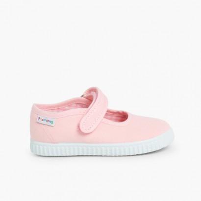 Scarpe Bambina chiusura a strappo Suola Tipo Sneakers Rosa