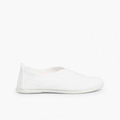 Sneakers tela Bianco
