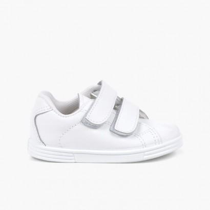 Scarpe sportive Neonato e Bambino Pelle Lavabile  Bianco