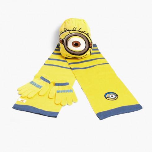 Set berretto, sciarpa e guanti bambini Disney Minions