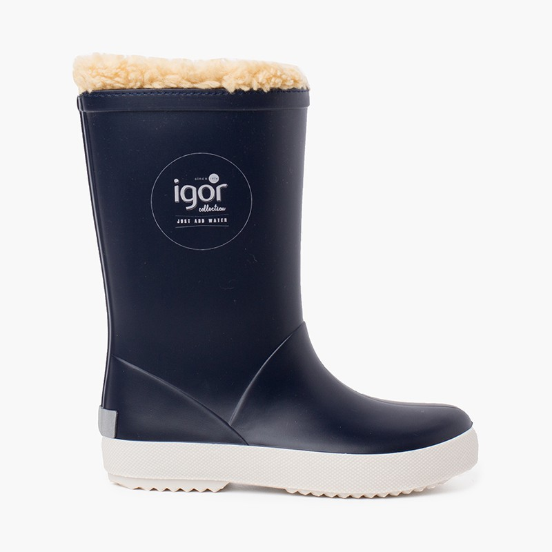 Stivali da pioggia interni in shearling per bambini