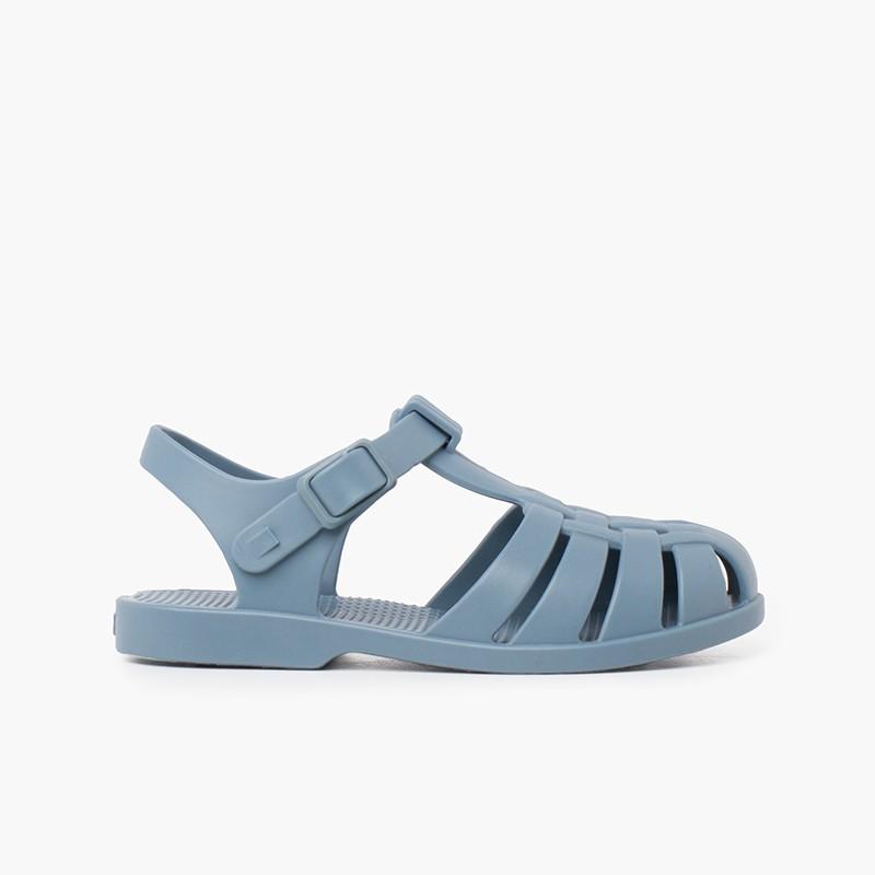 Sandali per bambini con chiusura a fibbia in colori polverosi
