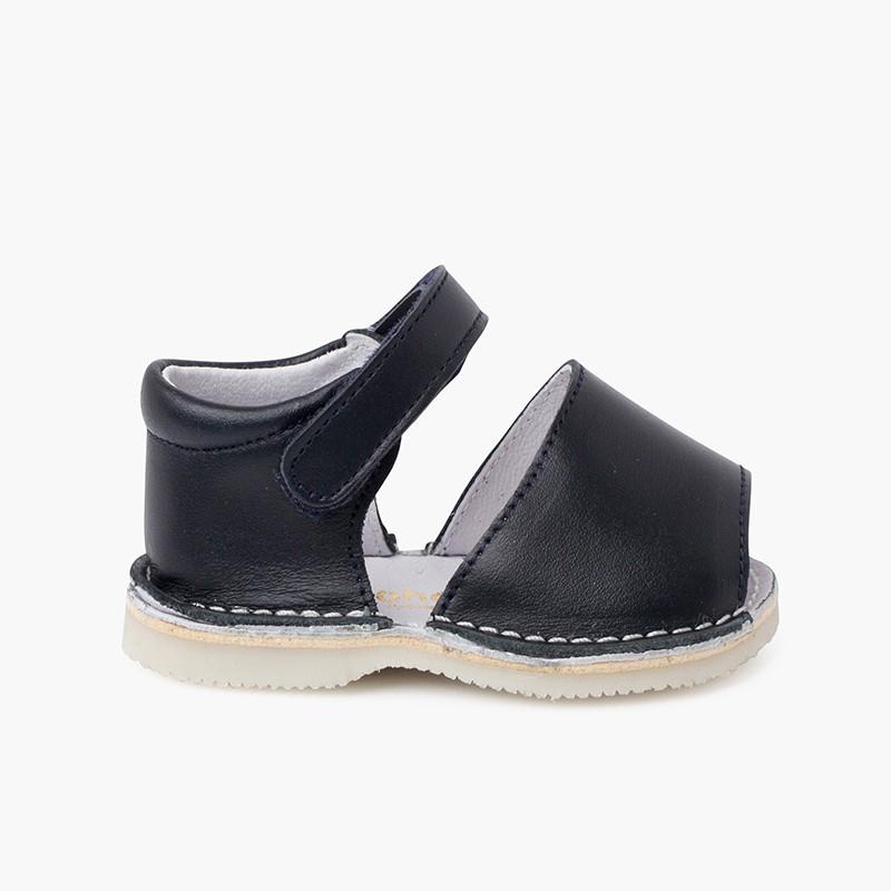 Sandali Minorchine pelle triscia aderente bambino