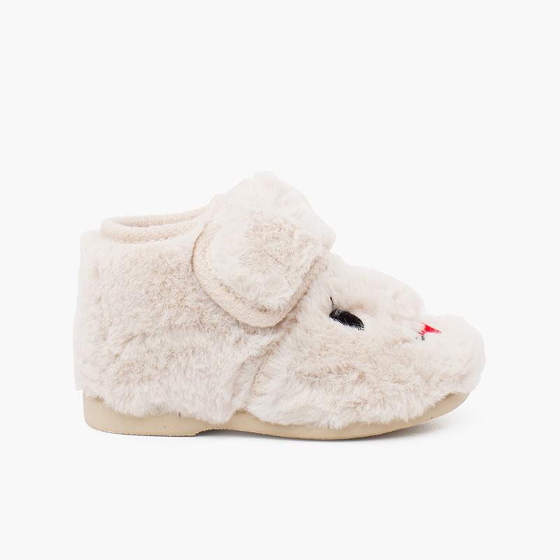 Pantofole coniglietto in morbida pelliccia