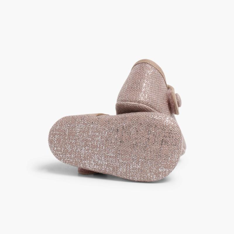 Scarpine con Cinturino Lino Velcro