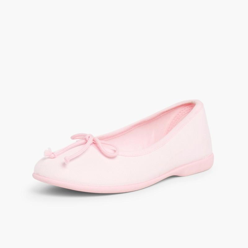 Ballerine Bambina Tela Laccetto