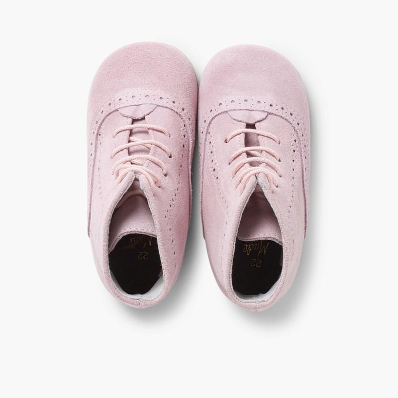 Stivali tronchetti per bambina scamosciati Rosa