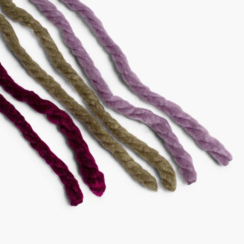 Cordoni di lana per capelli