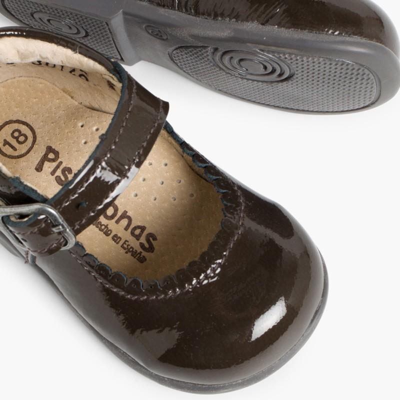Scarpe con cinturino bambina vernice fibbia