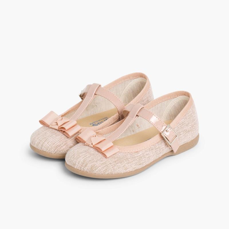 Scarpe bambina con fibbia e fiocchetto