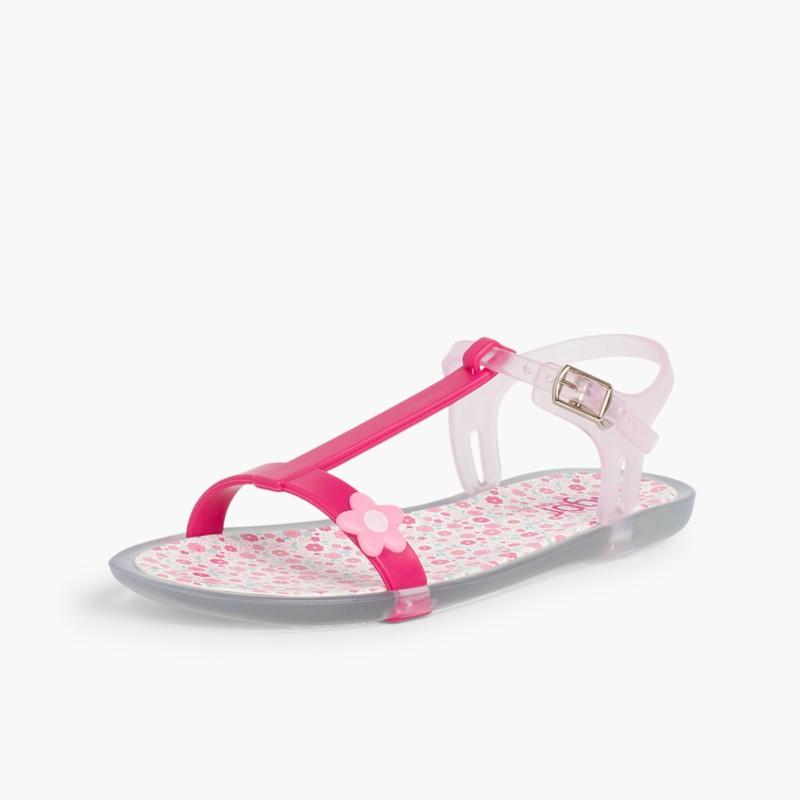 Sandali di gomma Tricia a fiori