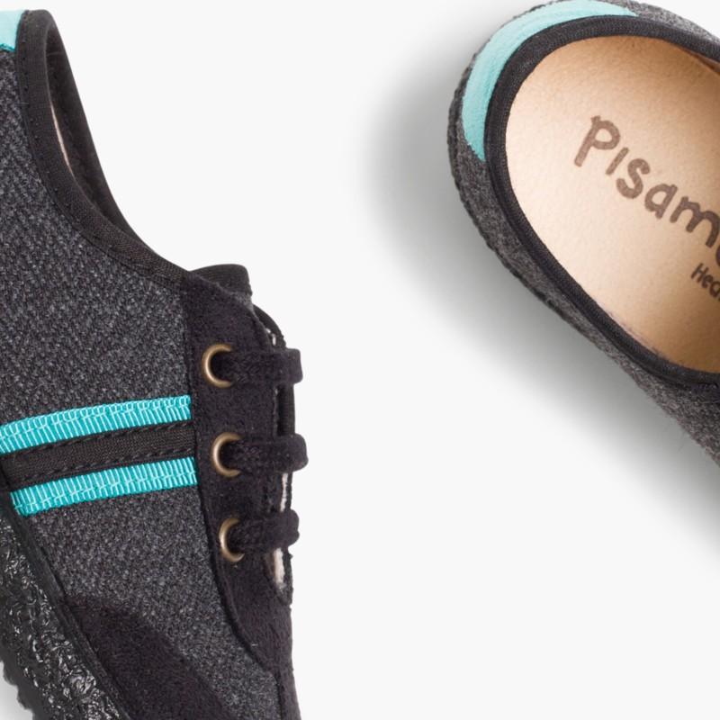 Sneakers effetto Scamosciato due lacci Verde Smeraldo