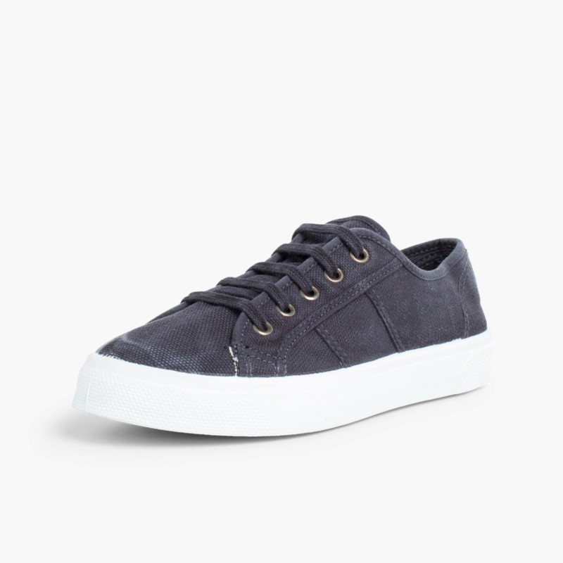 Sneakers Lacci Tela Slavata Blu