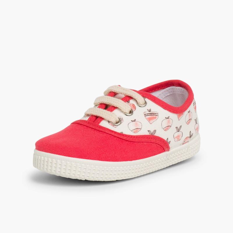 Sneakers lacci tela animal print