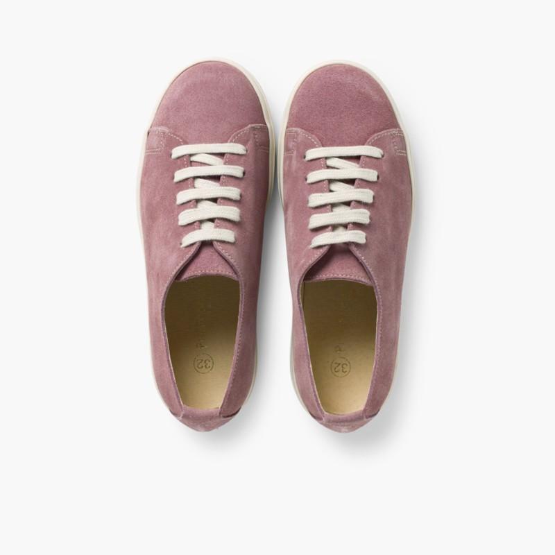 Sneakers Scamosciate Lacci