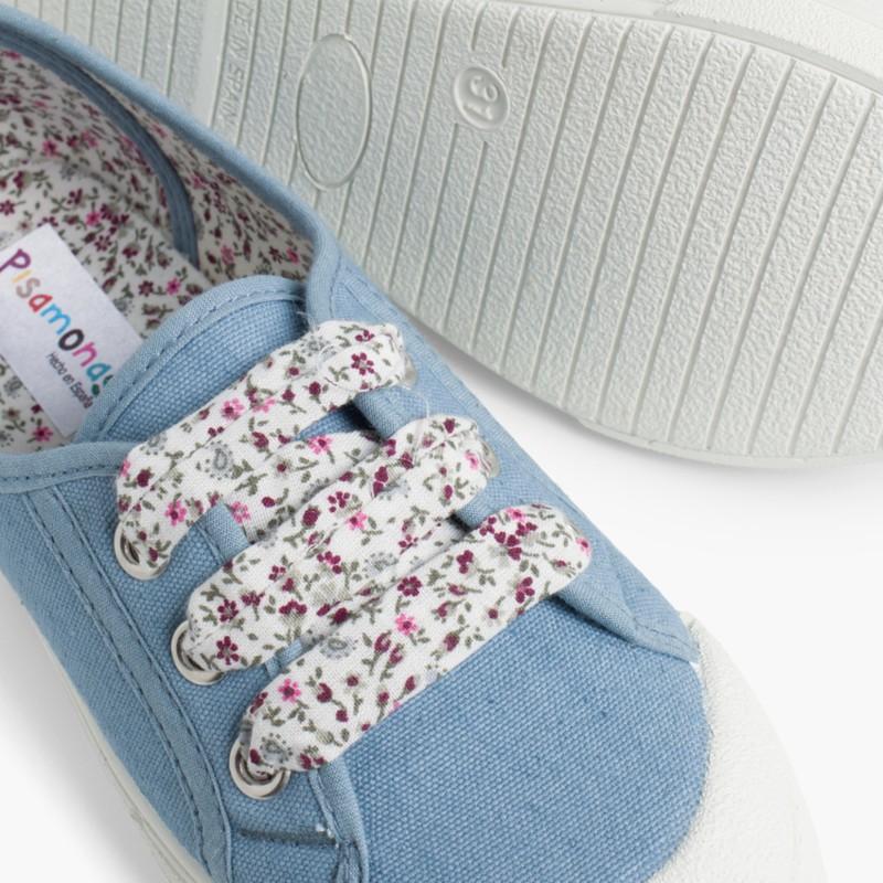 Scarpe tela punta gomma lacci