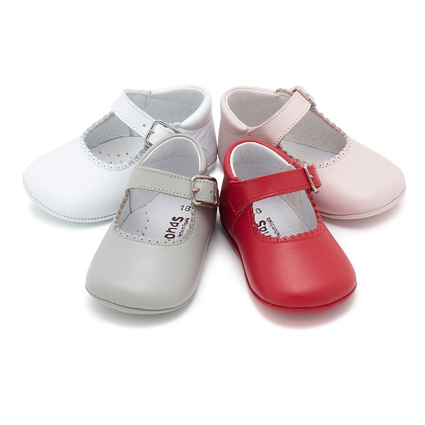 Scarpe/Scarpine Bambina Neonata Pelle Fibbia