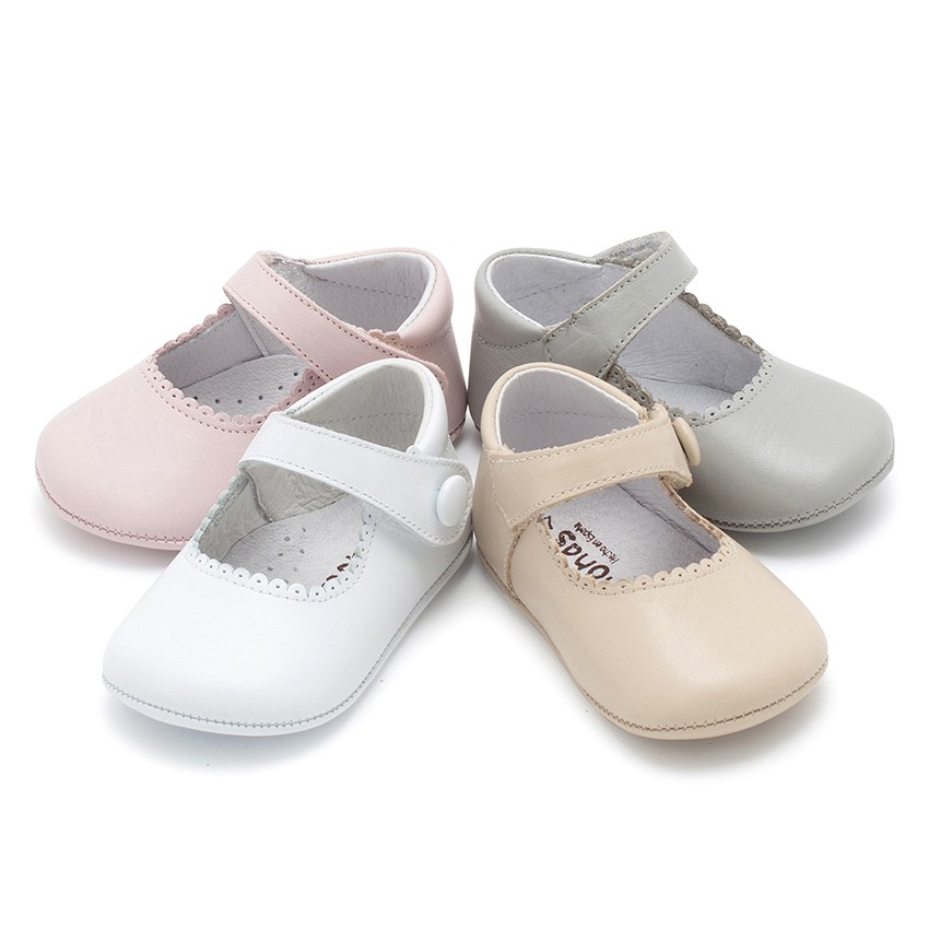Scarpe/Scarpine Bambina Neonata Pelle Velcro