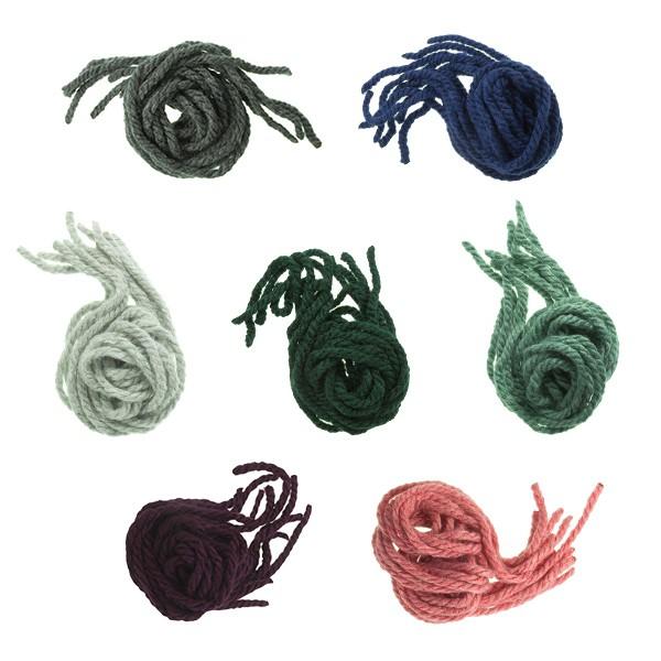 Elastici per capelli da bambina di lana monocolore