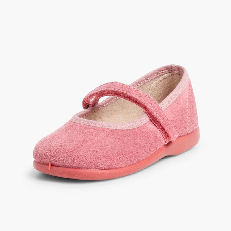 Merceditas Niña Bamara Velcro  rosa