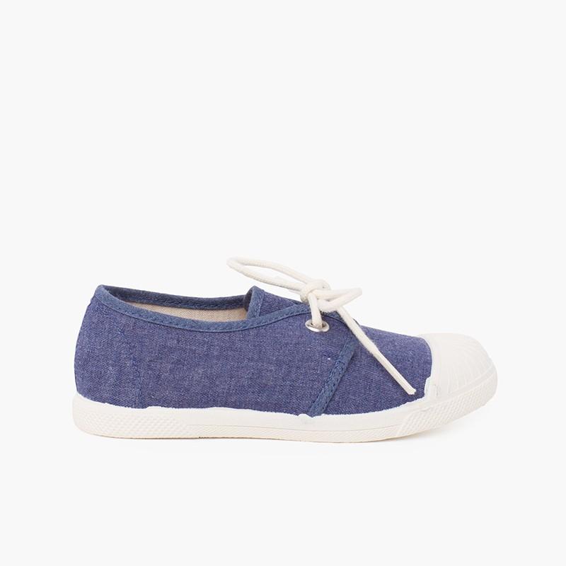 Sneaker Casual in Tela Puntale Gomma