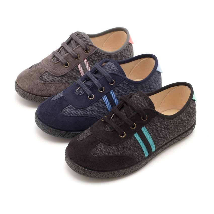 Sneakers effetto Scamosciato due lacci