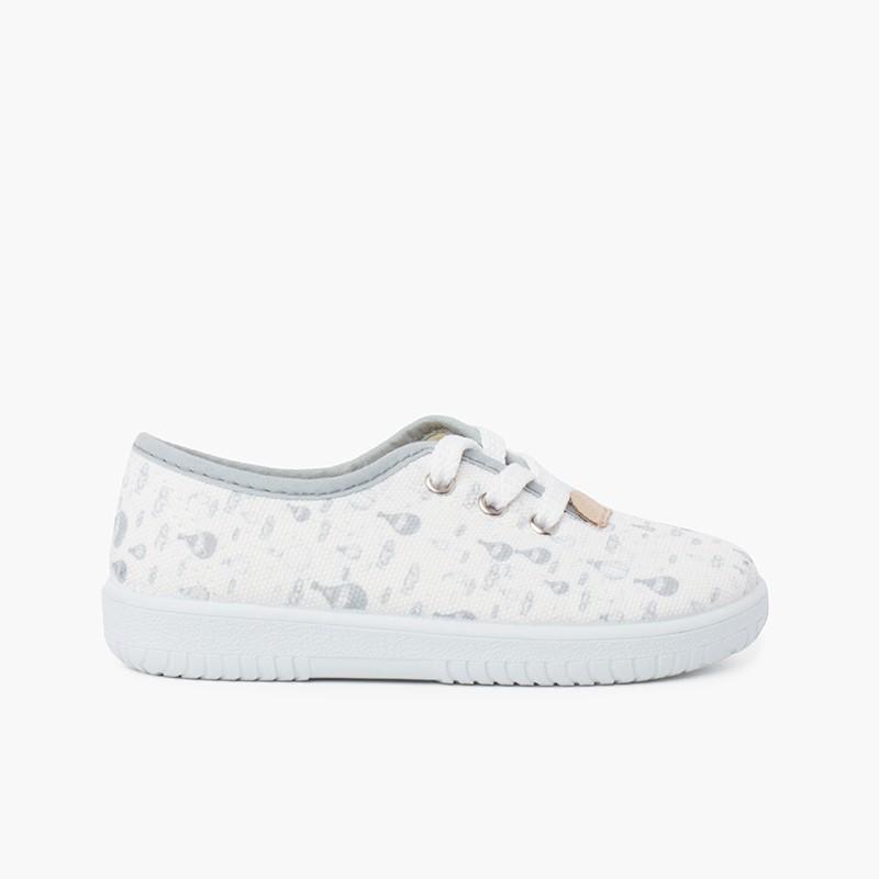 Sneakers Lacci Bambini Tela Palloncini