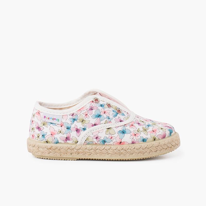 Sneakers Farfalle Linguetta Elastica senza Lacci